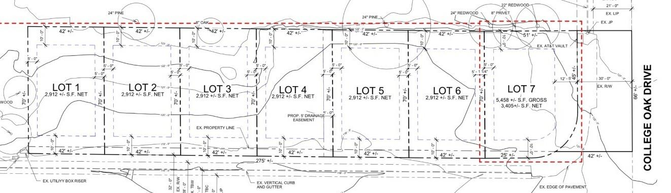 7 Parcels FINAL MAP ready to record, Improvement plans completed. Just under 3 minutes away from Interstate 80 and down the street from American River College. A great Multi unit property. 7 structures with a total of 11 units, 4 of which have 2 separate units. 3 units feature 2,005 sqft 3 bedrooms and 3 bathrooms with a 2 car garage. The other 4 units feature first floor unit A: 2 bedroom 2 bathroom 940 sqft. 2nd floor Unit B: 1,389 sqft 3 bedroom 2 bathroom 2 car garage. Project is ready to break ground.