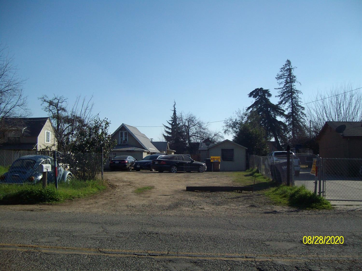 Two units on 12,632 sq.ft. lot. Tenants have been there for approx 5 years, would like to stay. Buyer to verify code compliance and zoning. Property has goats, chickens, and dogs fenced in. Electricity is shared between both units. Rents $1350 per month total.