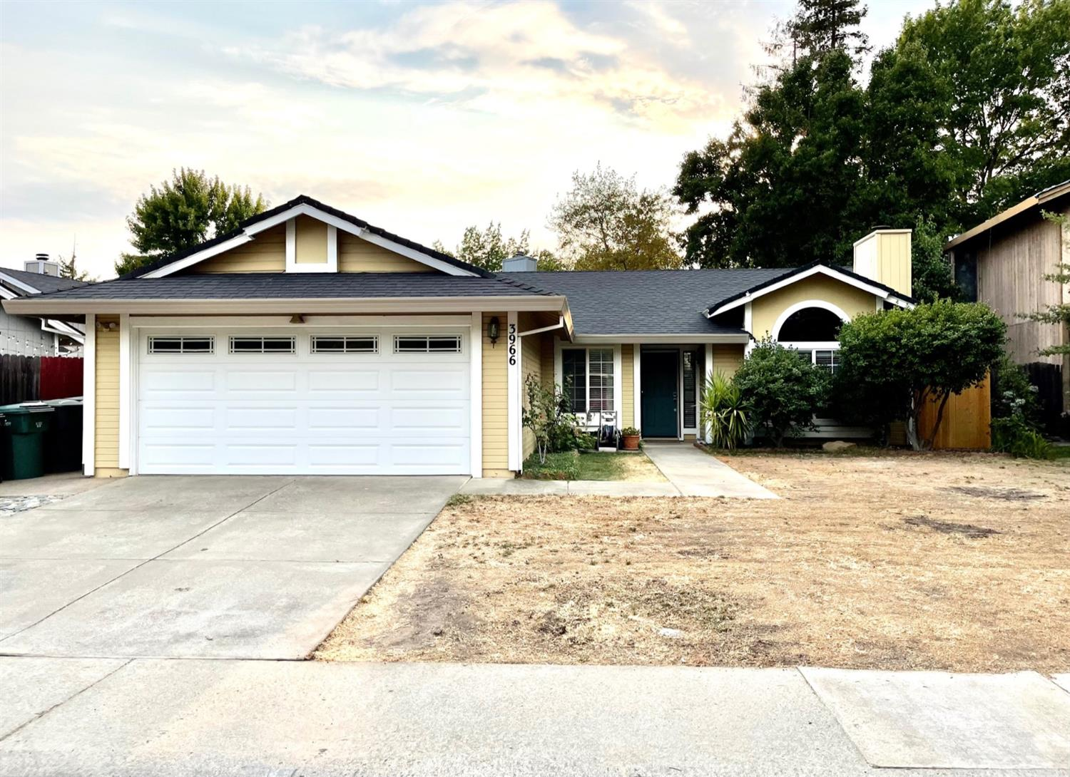 Beautiful, well maintained 3 bed, 2 bath, 2 car garage home on spacious lot.  Property offers open floor plan with cathedral ceilings, updated kitchen cabinets, granite counters, laminate flooring, fresh interior and exterior paint, updated bathrooms, new HVAC, water heater, newer roof.  Refrigerator, washer, dryer are included. Conveniently located to schools, shopping, park. Must see!!!