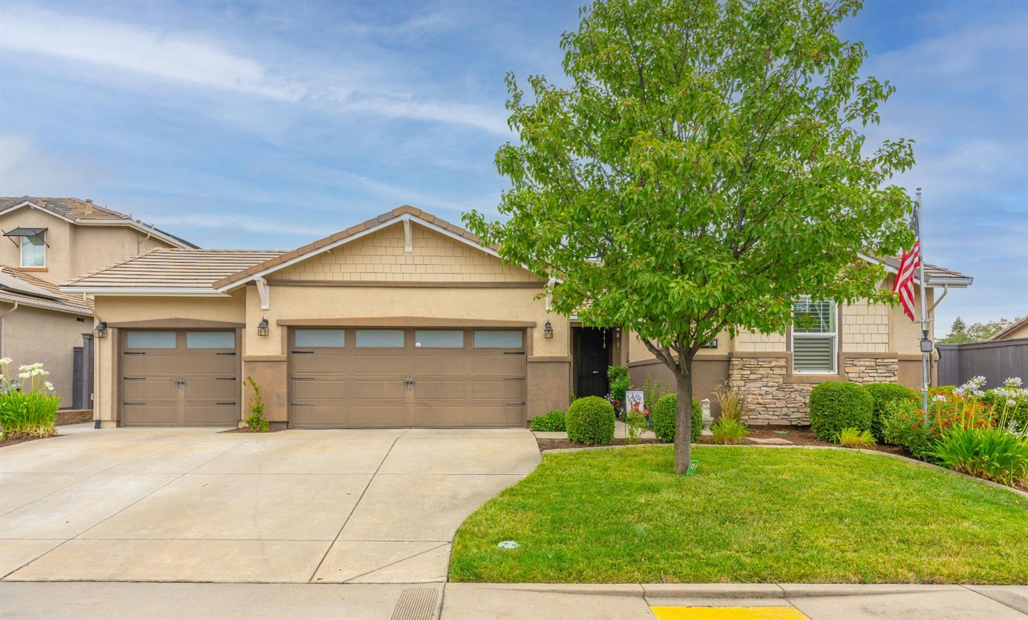 Immaculate home boasts pride of ownership! Instantly fall in love with the neighborhood, open layout, and huge backyard with pool! Interior offers a den (possible 4th bedroom), formal dining, and great room concept! Generous sized living area with custom fireplace and views of the backyard! Gourmet kitchen offers bar seating, granite counters, stainless appliances, gas cooktop, and walk in pantry! Owners suite is complete with dual sinks, tub, shower, and walk in closet! Entertainer's dream backyard with covered patio, sparkling pool, lush lawn, and mature landscape!! Smart home features include wifi light switches, thermostat, and sprinklers!! Highly sought after Orangevale location with close proximity to Lake Natoma, trails, shopping, and dining! Welcome Home!!