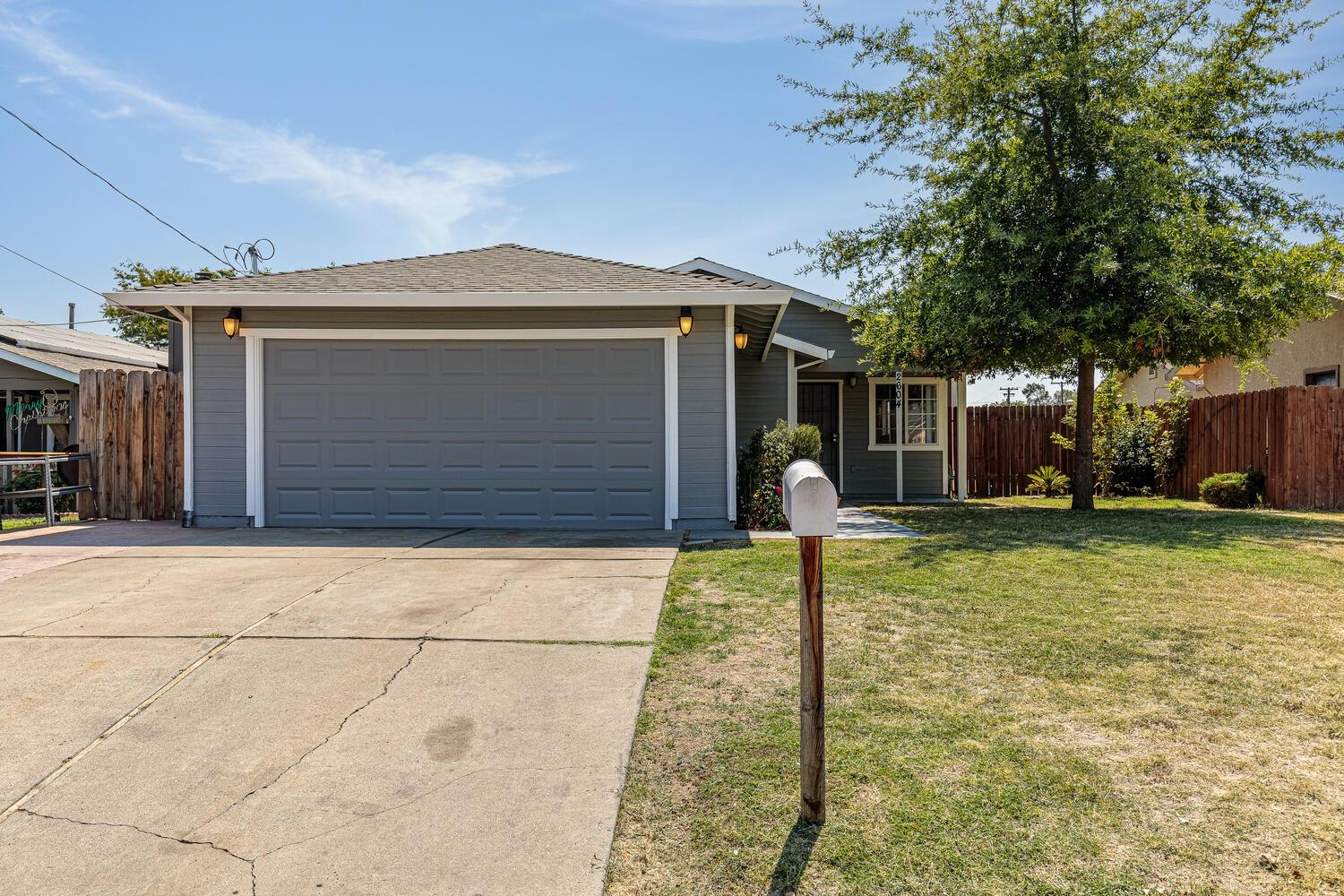 Welcome home to this Great find, 4Br, 2Ba, 1650sqft, 2GA, With a Solar System! Home was remodeled in 2013, it features vaulted ceiling in Living room, Granite counters in kitchen. New laminate floors, Freshly Painted in and out, stainless steel appliance, new microwave, tile bathrooms, good size rooms with ample closet space. Slider door off Master Bedroom. Large stamped cement patio, with a covered patio, Tool shed & Room for having and room for RV access. Newer composition roof, and newer water heater. Garage features large utility sink, large counter with cabinets. Home is situated in one of the very desirable streets in the neighborhood with new homes being built in the immediate area. Close to schools and shopping!