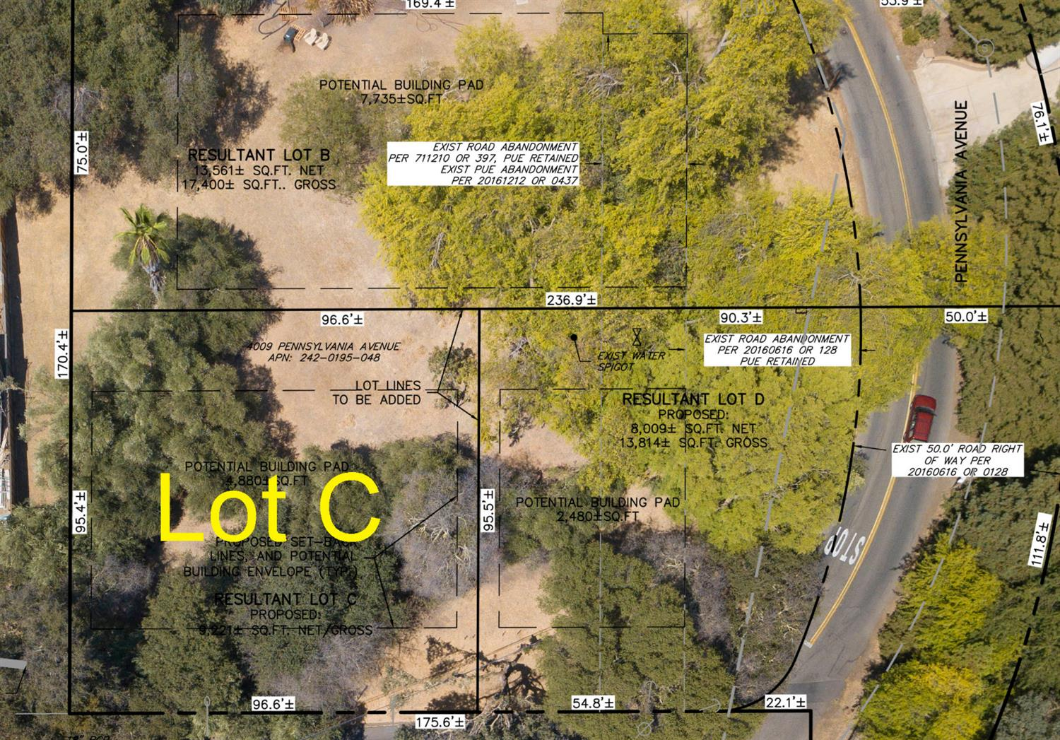 Here's your opportunity to own one of the last remaining residential lots right by the American River Trail access! This buildable site has a possible building pad (after set backs) of approximately 4,480 square feet! You'll appreciate the mature trees, privacy, location and life style of old Fair Oaks by the river! Come build your dream home today!